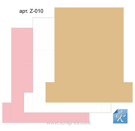 Набор картонных заготовок для шоколадниц (розовая, бежевая, белая), ТМ Курдибановская